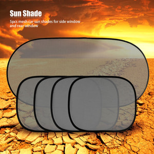 5Pcs 3D Photocatalyst Mesh Sun Visor Window Screen Sunshade With Suction Cup Front Rear Side Curtain Car Styling Covers Sunshade
