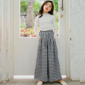 2021 جديد الصيف الأطفال السراويل الفتيات الملابس المراهقة ربيع الخريف فضفاض السراويل الطويلة أطفال فتاة السراويل عالية الخصر الأزياء