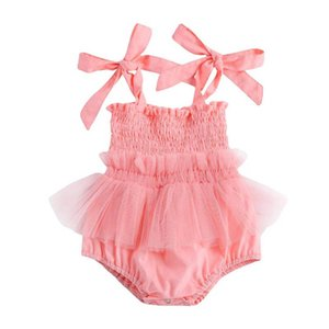 Baby Romper Girls Jumpsuit Lace Newborn Rompers Onesies Summer Princess Dress Toddler One Piece Clothing 0-2Y Infant Clothes B3897