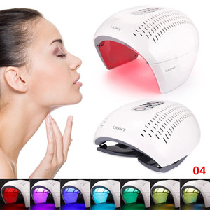 7 color PDT mask LED phototherapy skin rejuvenation machine Spa acne removing and heat treatment USA warehouse