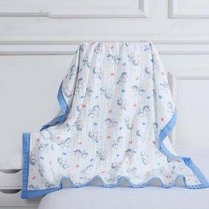 Baby Bath Towel Printing cartoon Children Towelling Quilt Infant Cotton Blanket Animal Baby Swaddle Newborn Bathroom Towels Robes WMQ571