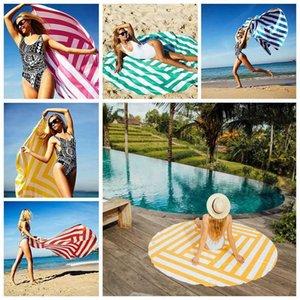 Confortevole Colore Morbido Alla moda Stripe Stampa Spiaggia Viaggi Asciugamano Sport Sport Body Yoga Mat conveniente e pratico