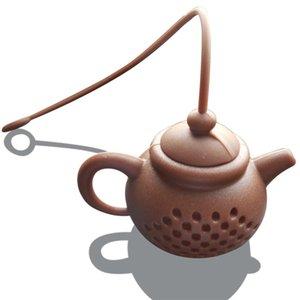 Té de silicona Infusor Tetera Forma Reutilizable Filtro de té Filtro Difusor Home Tea Maker Cocina Accesorios 7 Colores 174 S2
