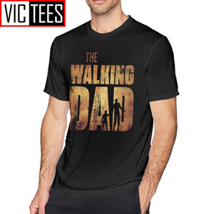 Hommes The Walking Dead T shirts The Walking Dad Original Père Day Zombie T-shirt Pourcentage Coton Homme Tee shirt Graphique Tshirt 210304