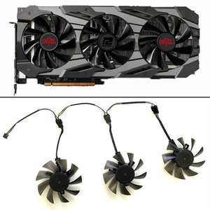 Fans & Coolings Cooling Fan DIY 3PCS 75MM 4PIN DC 12V RX 5700 GPU For Dataland Powercolor XT Red Devil 8GB GDDR6 Video Cards Replace