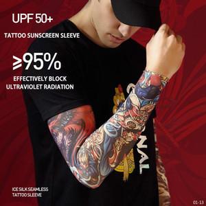 New Full Flower Arm Tattoo Наклейки Скелеты и Розы Временные Татуировки Наклейки Татуировки Вода Татуировка Рукав Рукав Борьбовый Арт 01-13