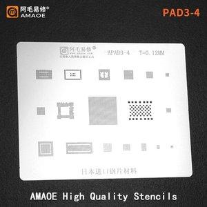Cell Phone Repairing Tools For Ipad 3 4 CPU RAM NAND POWER WIFI AUDIO USB IC CHIP Stencil Tin Solder Template Steel Mesh BGA Reballing