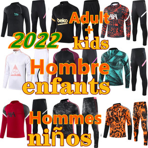 liverpoo 2021 2020 fc Barcelone real madrid ajax paris psg juventus Atletico Madrid  City france survetement foot enfant kids soccer tracksuit Survêtement de football