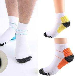 Mens Compression Socks Women Breathable Ankle Socks Anti-Fatigue Plantar Fasciitis Heel Spurs Pain Short Sock Running Socks H21803