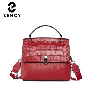 ZENCY CROCODILE кожаная сумка на плечо мода элегантный дизайн женской сумки большой емкости дамы домодуют рабочая сумка по кровату