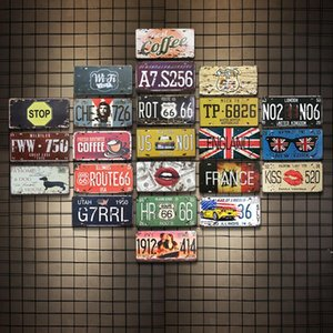 Signos de hojalata Campeón Cerveza Ruta 66 Vintage Wall Art Sign Retro Tin Sign Old Wall Pintura Art Bar Pub Restaurante Decoración del hogar BWD5515