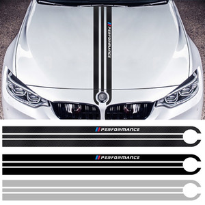BMW M3 M5 M6 E46 E90 E60 E70 F30 F10 F15 F16 Performance Body Fashion Decorated Carbon Fiber Car Hood Sticker Auto Accessories