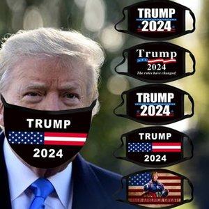 Trump 2024 Yüz Maskesi Başkanlık Seçim Maga Pamuk Maskeleri Joe Biden Yıkanabilir Nefes Siyah Renk Mektupları Baskı Yetişkin Facemask H38U28Q