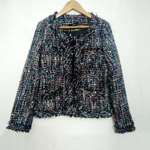 Women's Jackets Jacket Coat Tweed Ladies Autumn   Winter High-end Small Fragrant Wind Beaded A Generation Woolen Vestidos