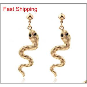 New Chrismas Gift For Girl Lady Snake Earrings Kit Animal Snake Dangle Earrings Snake Wave Drop Earrings For Wome jllHKB bdesybag