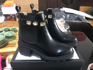 Designer Martin Boots Black Color Ankle Boots Designer Frauen Booties Highet Qualität Winter Booties Rutschfest mit Box