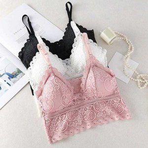 Sexy Crop Top Women Beauty Back Lace Tank Tops Bottoming Camisole Female Embroidery Floral Underwears Cozy Breathable Lingerie