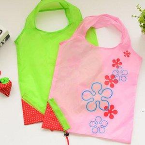 Armazenamento Bolsa Morango Uvas Abacaxi Sacos Dobráveis Dobráveis Mercearia Dobrável Nylon Bag Multicolor DHF5417