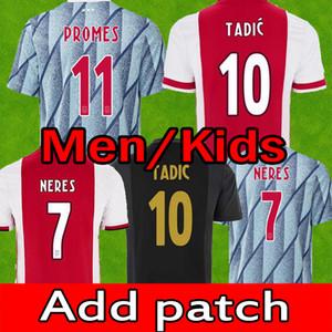 Ajax 축구 유니폼 팬 플레이어 암스테르담 2020 21 Tadic Blind Promes Neres Cruyff 남자 아이들 훈련 50 풋볼 셔츠 유니폼 20 21