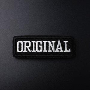 Textgröße: 2.7x8.0cm Stickerei Patches für T-Shirt Bügeleisen auf Streifen Applikationen Kleidung Aufkleber Kleidung Nähen auf Abzeichen geschrieben