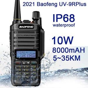 Walkie Talkie 2021Nieuwe Baofeng UV-9RPlus 10W IP68 Waterdichte Dual Band Portable Cb Jacht Ham Radio UV9RPlus U vhf Transceiver