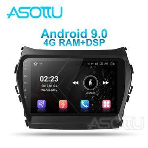 Jugador Asottu HY605 Android 9.0 PX6 Coche DVD para Santa Fe 3 IX45 2013 2014 2021 Unidad de Navigaton