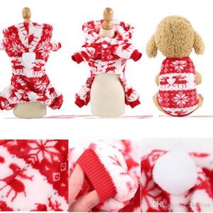 Christmas Animal Vêtements Cartoon Mignon Chiens Cat Hiver Costumes Costumes Costumes Personnes Sans personnage Couvertures de Noël Costume Pet Costume Décoration LXL738YD