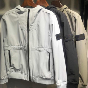 Мужчины с капюшоном с капюшоном Windbreaker молния толстовки лоскутное пальто куртки камень бегущая спортивная капюшона Jogger повседневная островная пальто