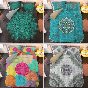 Colorful Mandala King Queen Size Bedding Sets 2 3pcs Single Twin Quilt Duvet Cover Set Home Textile CN(Origin)