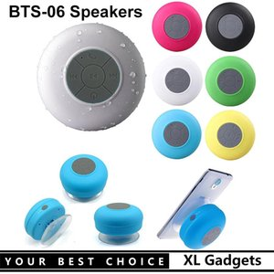 BTS-06 Mini Bluetooth Speaker Portable Waterproof Wireless Handsfree Speakers With Suction Cup For Showers Bathroom Pool Car Beach Outdor