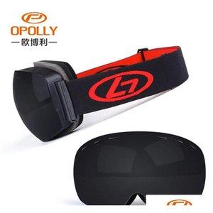 Men Women Winter Snow Sports Ski Goggles Snowboard Goggles With Anti-fog Uv 400 Protections Double Lens Skat jllOad insyard