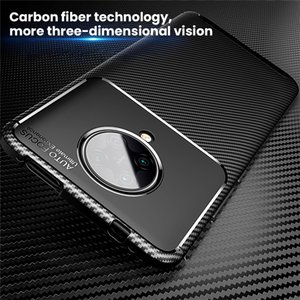 Carbon Fiber Breathable Case For Xiaomi Poco F2 Pro M3 X3 NFC Cover Protective Funda Luxury Back Cover for Redmi K30 Pro Case