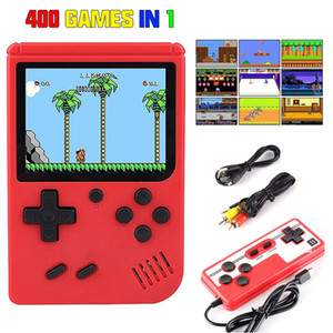 100 pcs Mini Handheld Game Console Player 400 In 1 Games Retro Video consol 8 Bit 3.0 Inch Box TV Gift Kids
