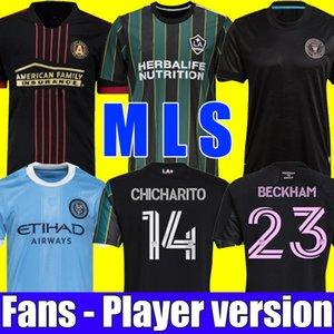 MLS 20 21 Atlanta United FC Soccer Jersey 2021 York City La Galaxy Fútbol Camisas Jugador Versión Inter Miami CF Tops Beckham Chicharito Niños