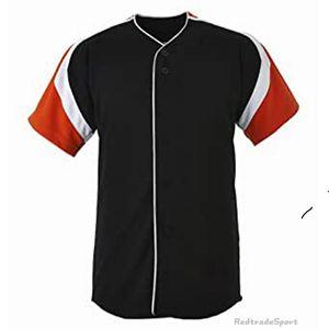 Anpassen Baseball-Trikots Vintage leere Logo genähte Namensnummer blau grüne Sahne Schwarz Weiß Red Herren Womens Kinder Jugend S-XXXL 1CWBB