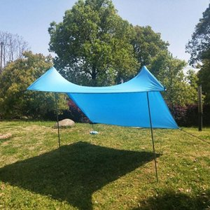 Shade Family Beach Sunshade Lightweight Portable Sun Tent With Sandbag Large Canopy For Outdoor Fishing Camping