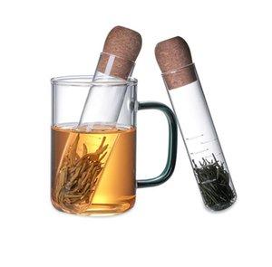 Универсальный стеклянный чай ситечко инфузерной творческий трубный инструмент для питьевой программы многоразовый фильтр для кружки модных свободных чаев листья варки