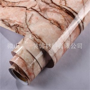 Papel de parede de autoadesivo de filme de mármore quente para banheiro Cozinha Armário bancário de papel PVC PVC impermeável adesivos de parede 726 K2