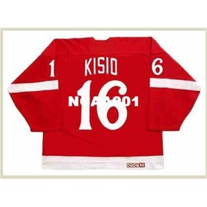 001 #16 KELLY KISIO Detroit Red Wings 1982 CCM Vintage Retro Hockey Jersey or custom any name or number retro Jersey