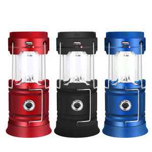 18650 Battery Outdoor Camping Tent USB Charging Multi-Functional Solar LED Emergency Portable Lighting Camping Lantern