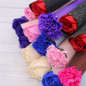 قرنفل الورود الصابون الزهور الإبداعية رومانسية الزفاف تفضل روز الصابون زهرة للأحال هدية الأمهات يوم هدايا الاحتفالات الإمدادات