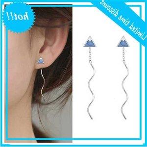 100% Silver 925 Sterling Earring Women Charm Piercing Long Bijou Personality Snow Mountain Tassel Drop Earrings Girl Jewelry