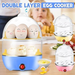 Double Layer 14 Eggs Capacity Egg Boiler Steamer Electric Egg Cooker Corn Milk Steamed Kitchen Cooking Machine 220V 350W