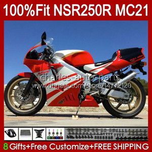 OEM Injection For HONDA MC21 PGM3 NSR250RR NSR250 NSR 250 R 103HC.100 red glossy NSR 250R 90 91 92 93 NSR250R 1990 1991 1992 1993 Fairing