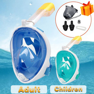 Scuba subacquea Snorkeling Anti MASCHERA ANTI FOG SET DIVING Full Face Maschere respiratorie Sicuro e impermeabile Attrezzature da bagno