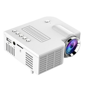 Mini Portable Video Projector LED WiFi Projector UC28C 1080P Video Home Cinema Movie Game Cinema Office white