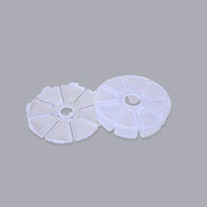 Mini 8 cuadrículas Caja de compartimentos Nuevo DIY Nail Art Rhinestone Caja de plástico Caja de almacenamiento redondo Organizador claro Joyería Cuchilla de maquillaje 686 K2