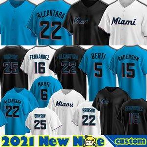 22 Sandy Alcantara Jerseys Baseball Jose Fernandez Miami Jersey Brian Anderson Jesus Gesù Aguilar Jon Berti Corey Dickerson Miguel Rojas Cooper