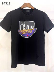 DSQ PHANTOM TURTLE 2021SS New Mens Designer T shirt Paris fashion Tshirts Summer DSQ Pattern T-shirt Male Top Quality 100% Cotton Top 6843