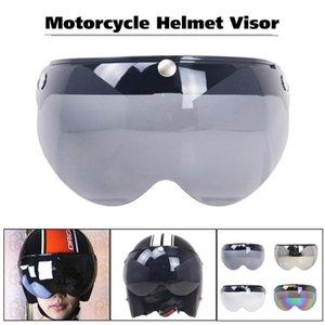 Motorcycle Helmets Universal Windproof 3-Snap Moto Helmet Sunglasses Visor Front Flip Up Wind Shield Lens